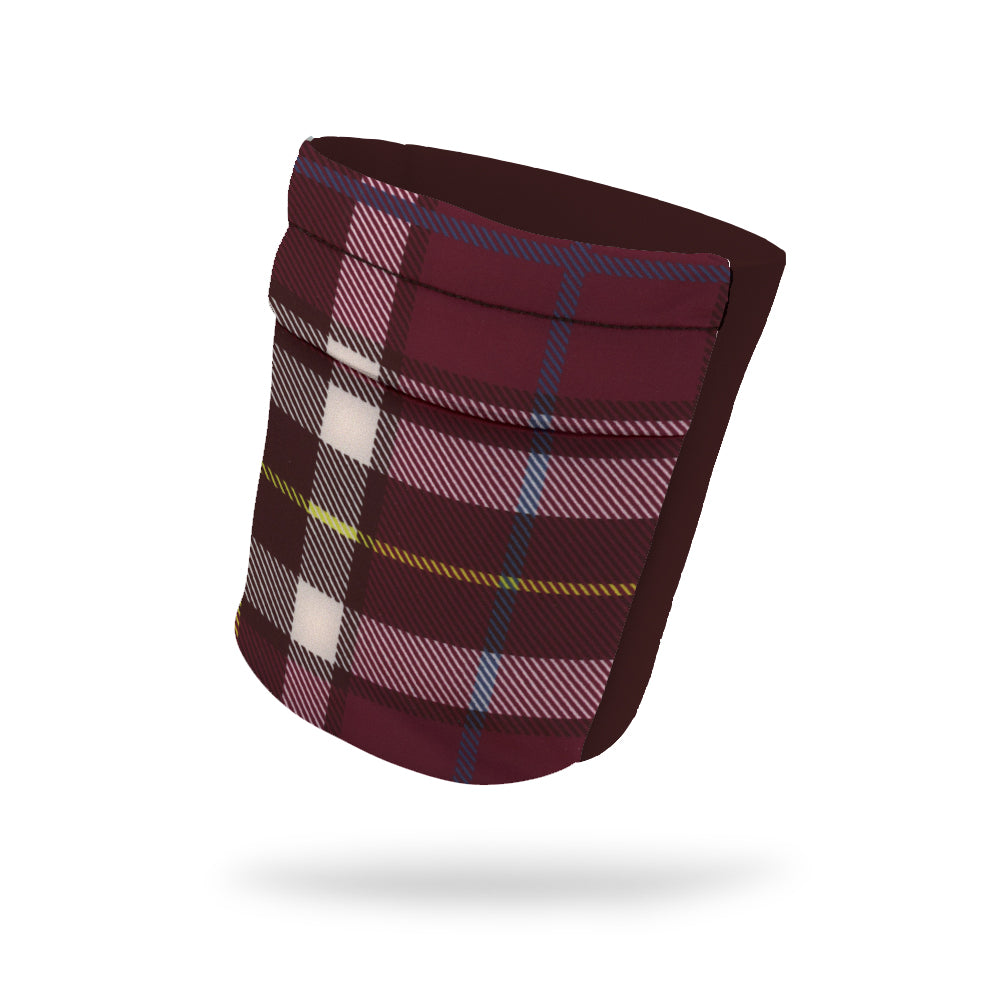"Crimson Plaid Wicking Armband 6.22"" Height"