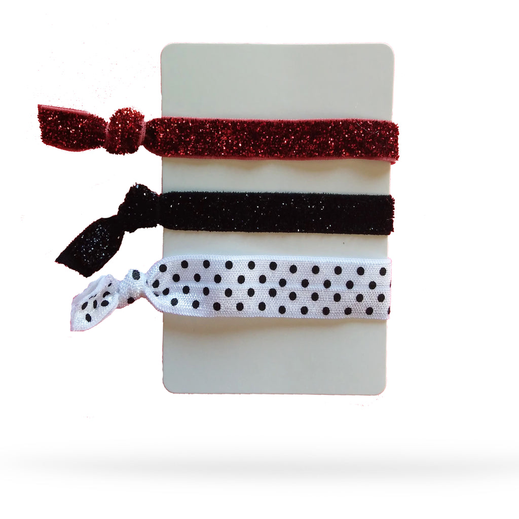 Dalmation Dots Pack of 3 Hair Ties