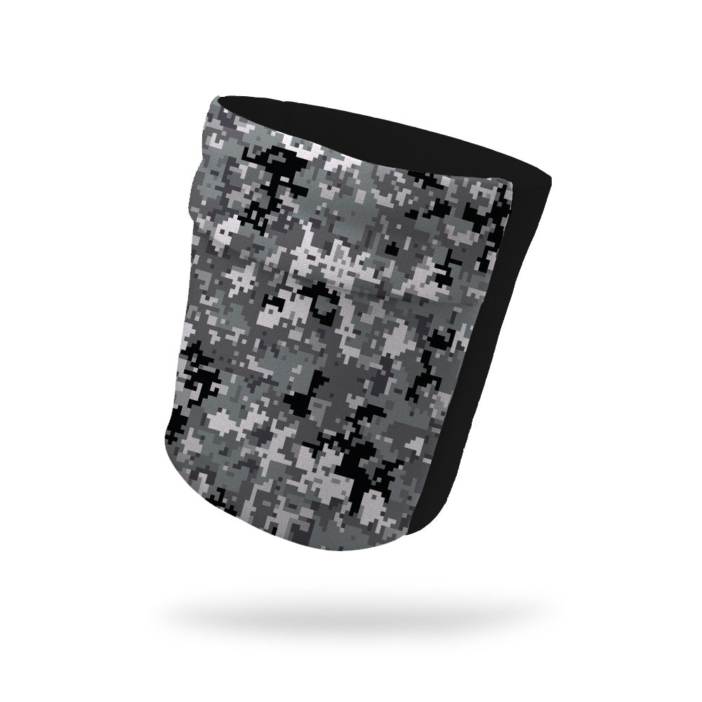 "Digital Camo Gray and Black Wicking Armband 6.22"" Height"