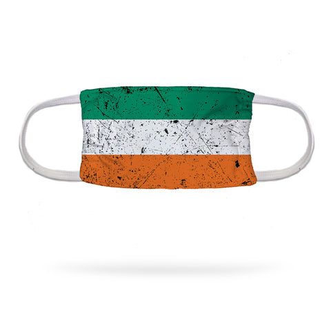 "Distressed Irish Flag Wicking Neck Gaiter 12"" Length"