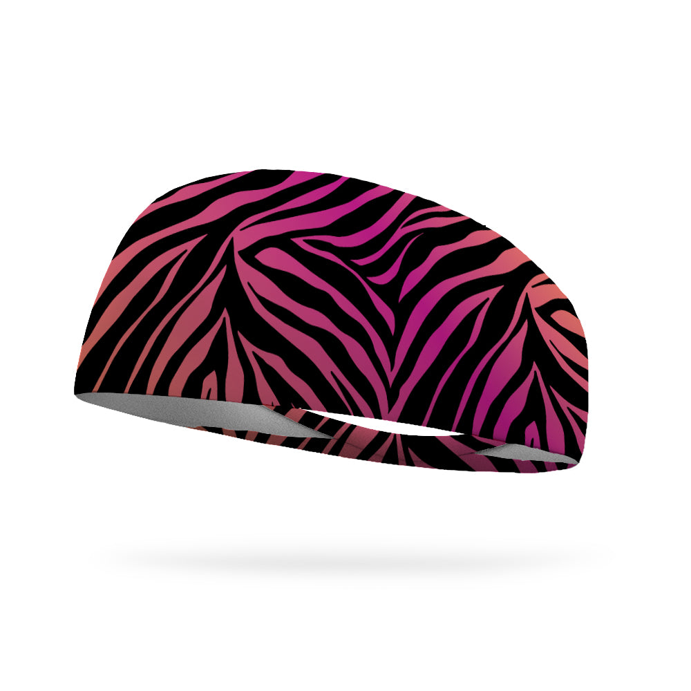 Diva Zebra Wicking Performance Headband