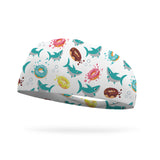 Donut Shark Wicking Performance Headband
