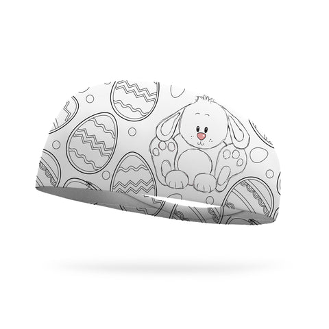 Puppy Love Wicking Headband - Snowflake White logo