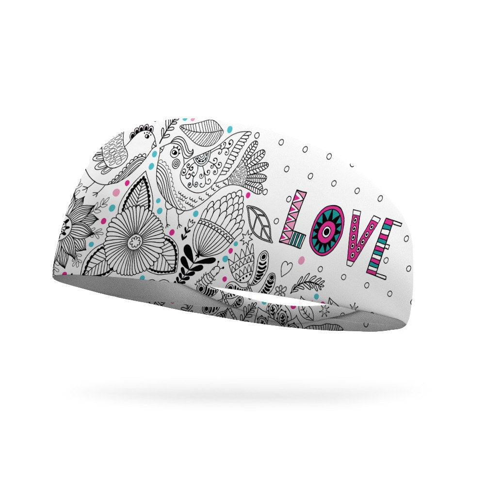 Doodle Love Wicking Headband - Bondi Band