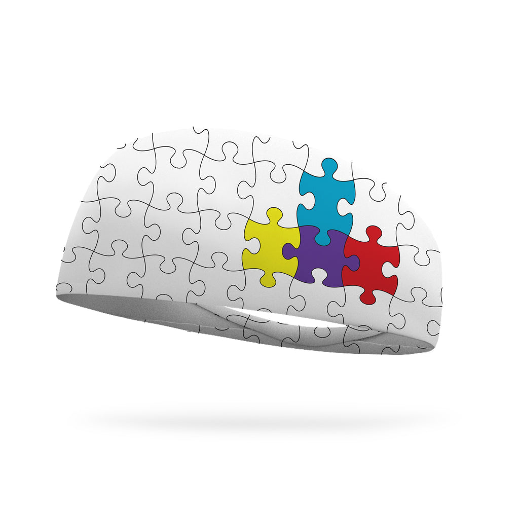 Doodle Puzzle Pieces Wicking Headband