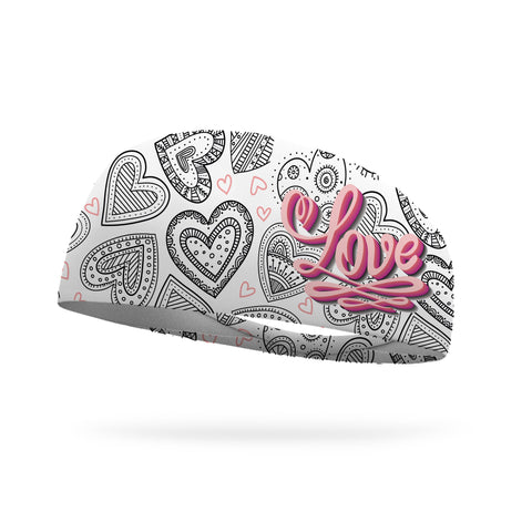 Doodle Floral Trail Color Your Own Wicking Headband