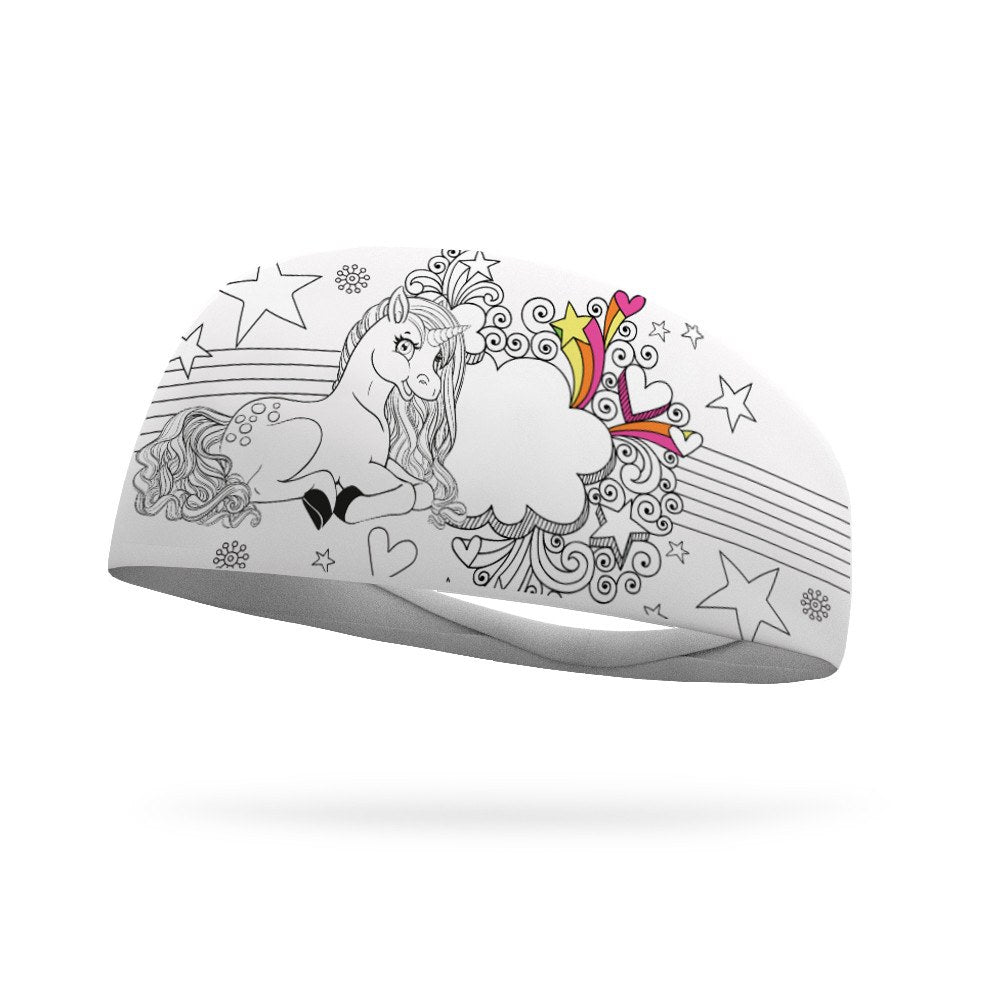 Doodle Unicorn Wicking Headband - Bondi Band