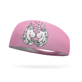 Doodle Unicorn Love Color Your Own Wicking Headband