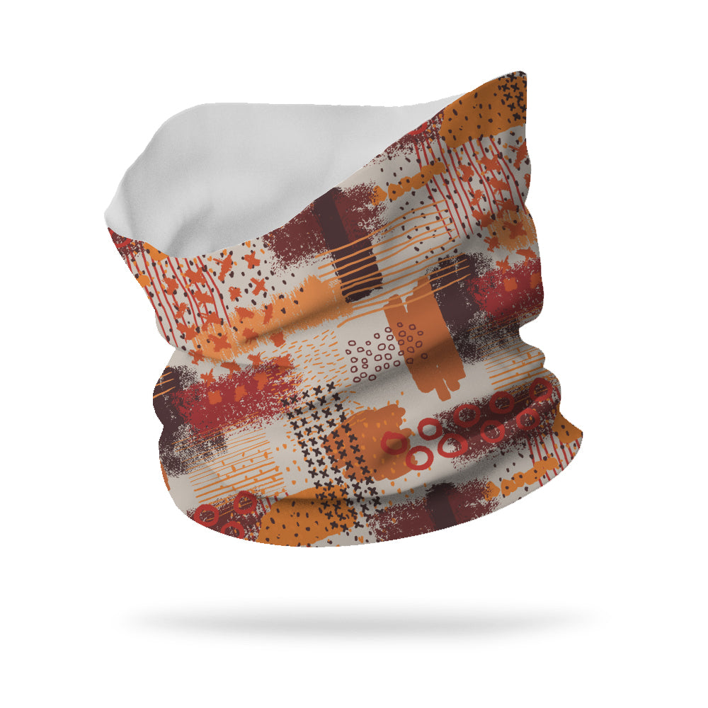 "Eclectic Abstract Wicking Neck Gaiter 12"" Length"