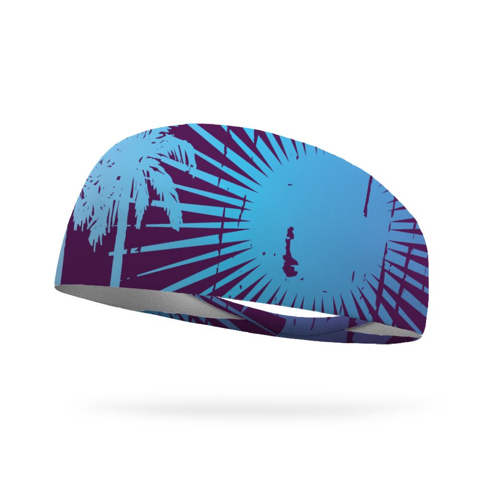 Eggplant Beach Wicking Performance Headband