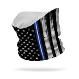 Essential EMT Thin Blue White Line Wicking Neck Gaiter