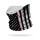 Essential Nurse Thin Red White Line Wicking Neck Gaiter