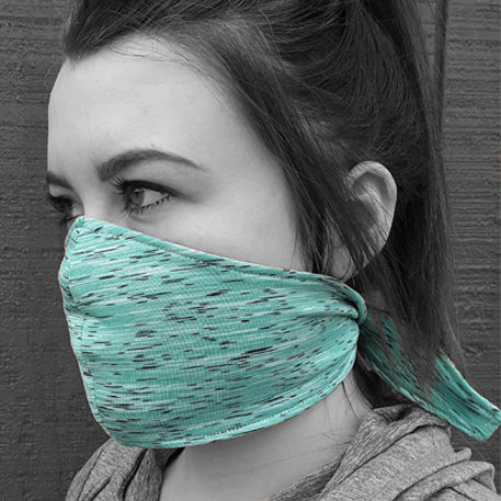 Solid Color TIE BACK Wicking Face Mask