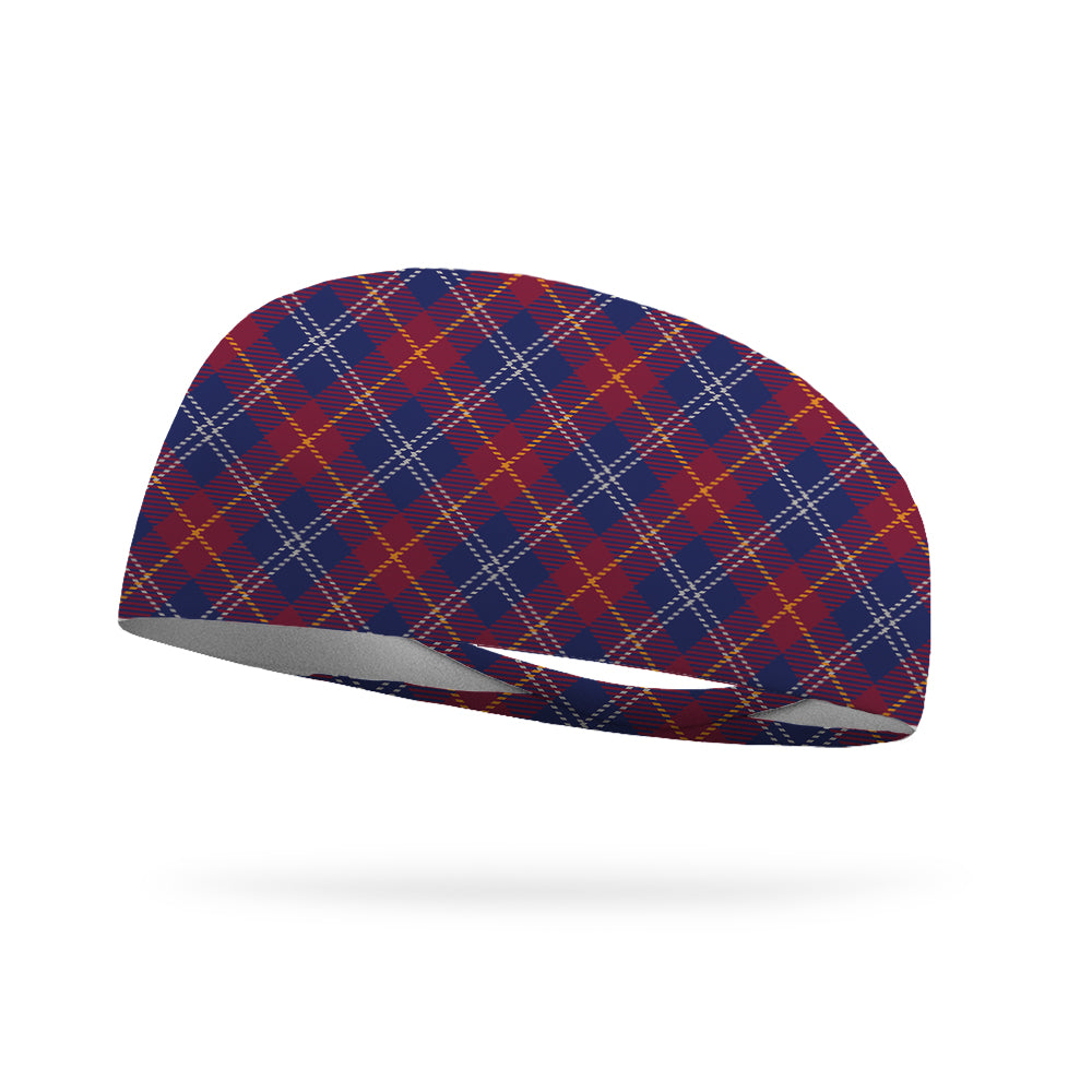 Fall Plaid Wicking Performance Headband