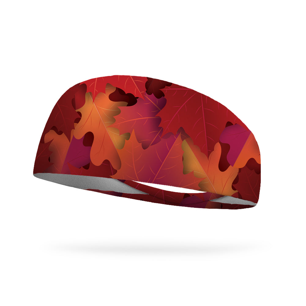 Falling Autumn Leaves Wicking Performance Headband