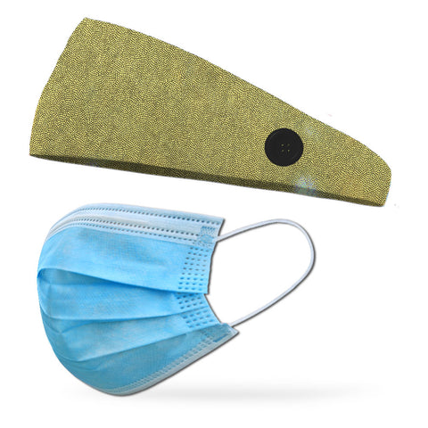 Good Morning Sunshine Wicking Button Headband to Loop Your Medical Face Masks Onto (Mask Not Included Headband Only)