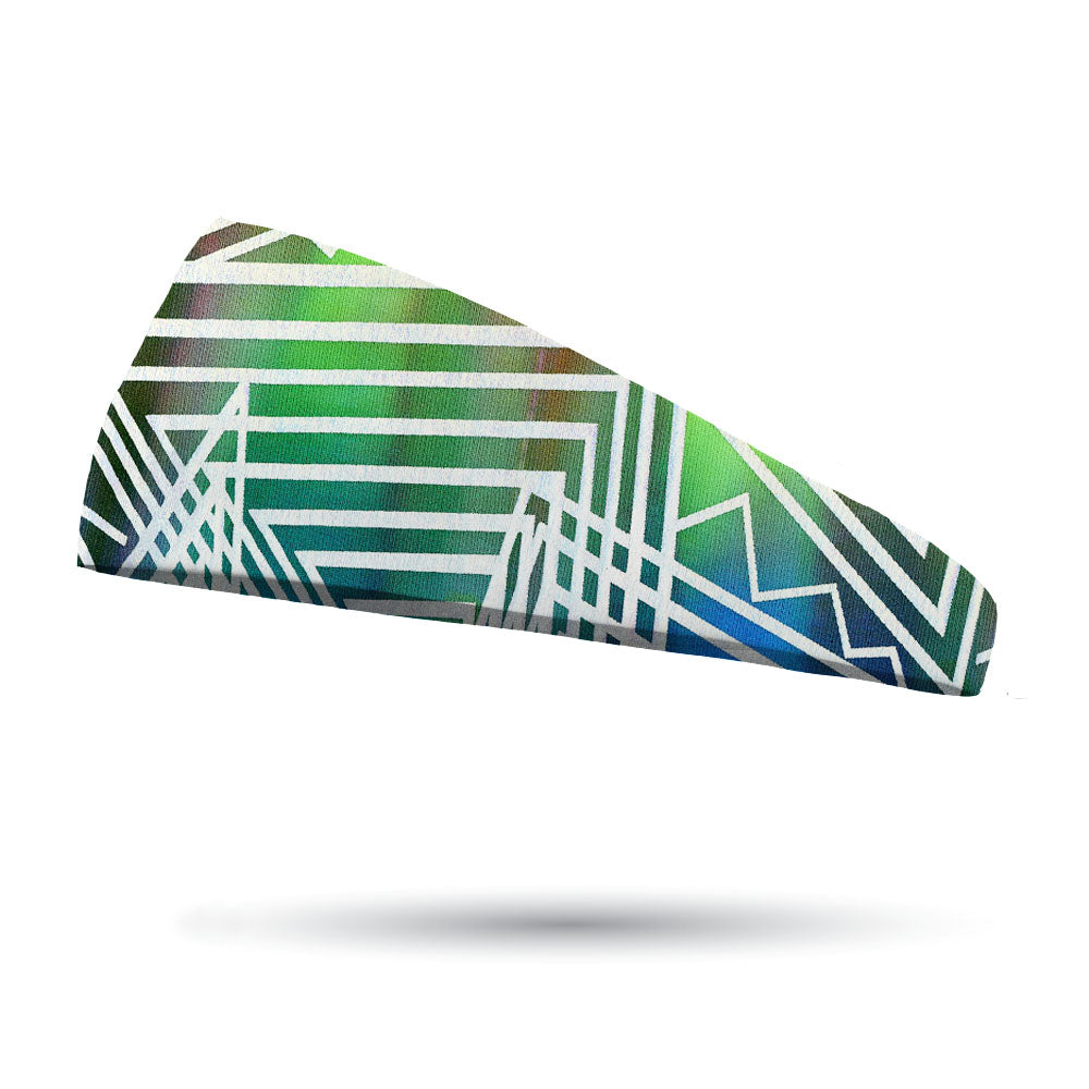 Fashion Laser Blitz Green Headband
