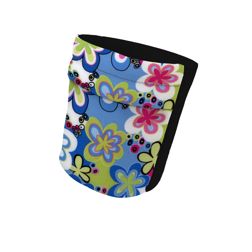 "Feeling Groovy Fashion and Black Wicking Armband 6.22"" Height"