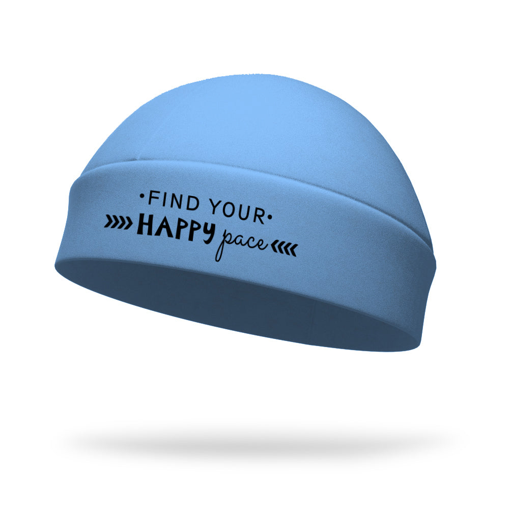 Find Your Happy Pace Wicking Regular Hat - Black Logo