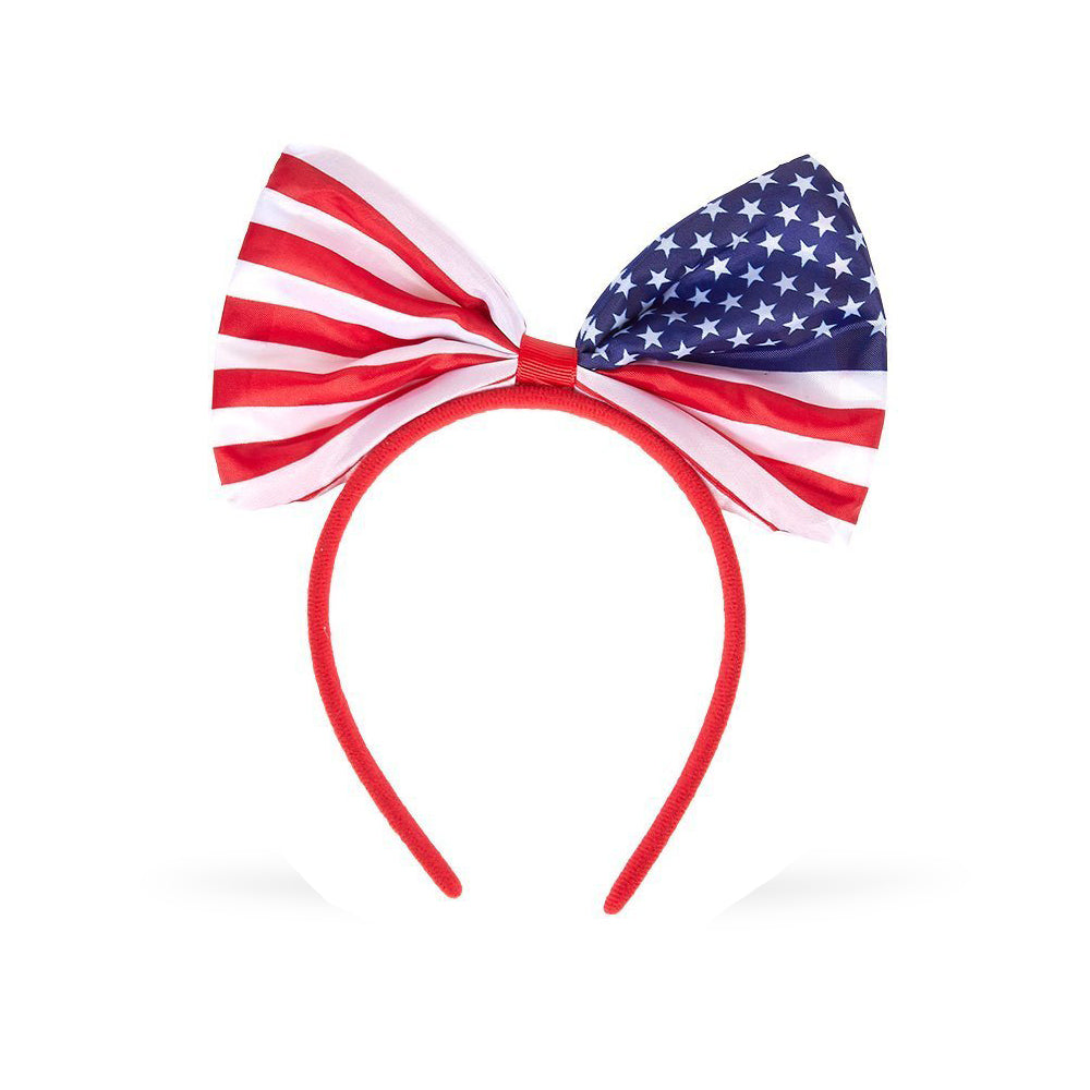 Flag Bow Headband