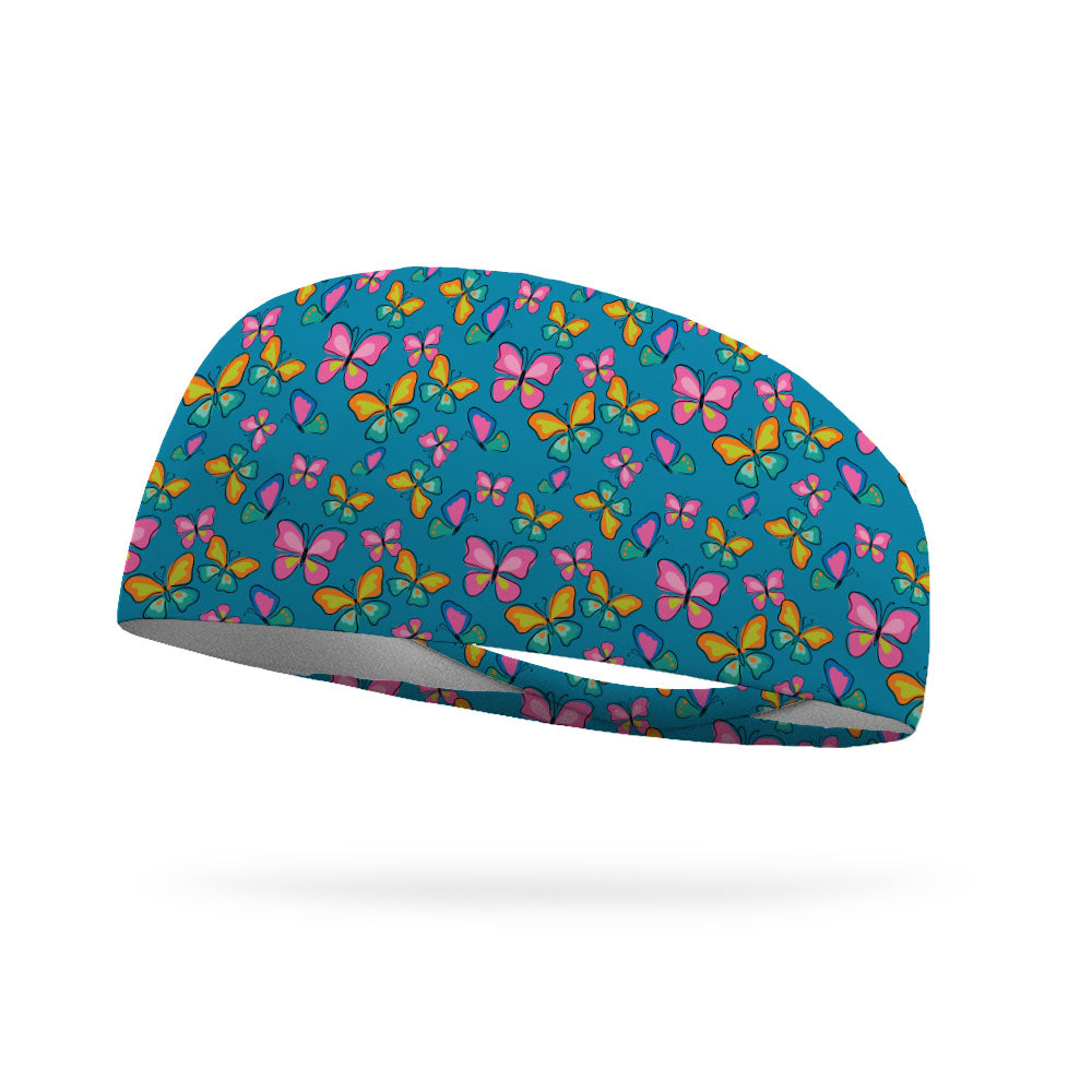 Fly Butterfly Fly Performance Wicking Headband