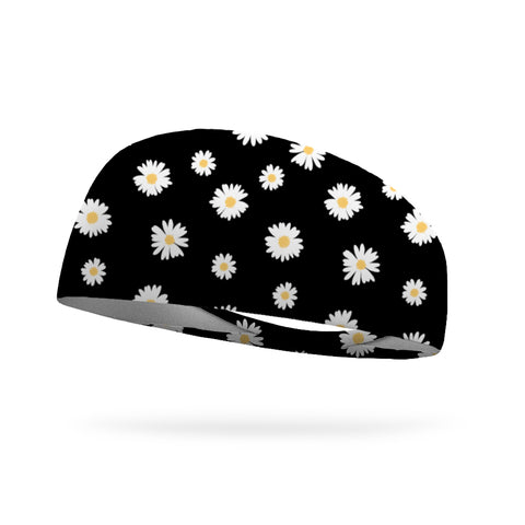 Peace Love and Flowers Wicking Performance Headband
