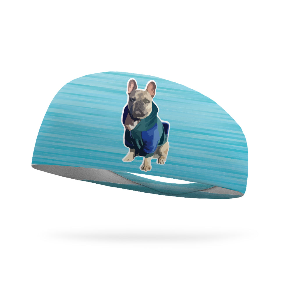 Lexie Kelly Collection, Frenchie By the Ocean Wicking Performance Headband
