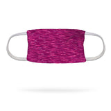 Static Fuchsia Face Mask