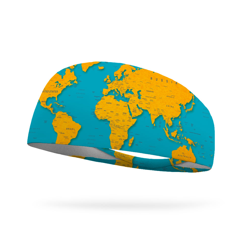 Geography Performance Wicking Headband