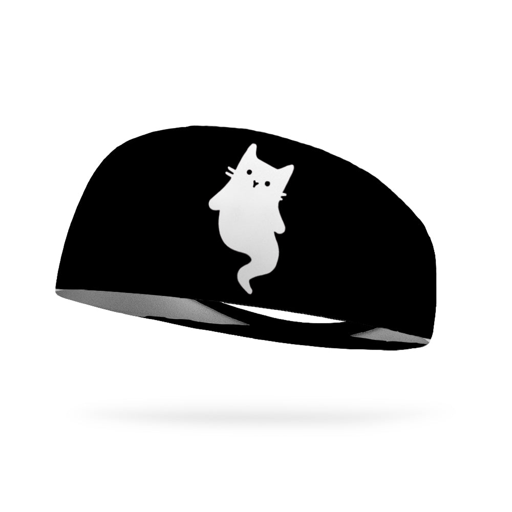 Ghostly Meow Wicking Performance Headband