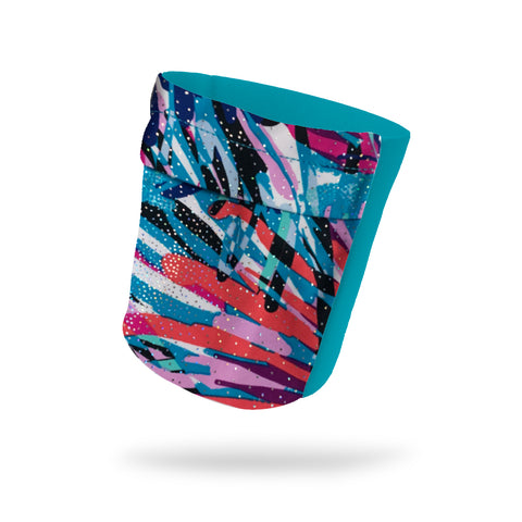 "Blue Lagoon Shimmer Fashion and Aqua Wicking Armband 6.22"" Height"