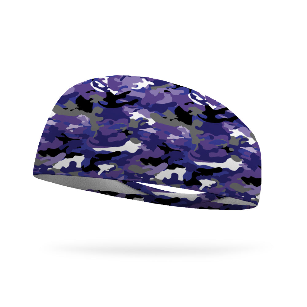 Grapes of Wrath Purple Camo Performance Wicking Headband