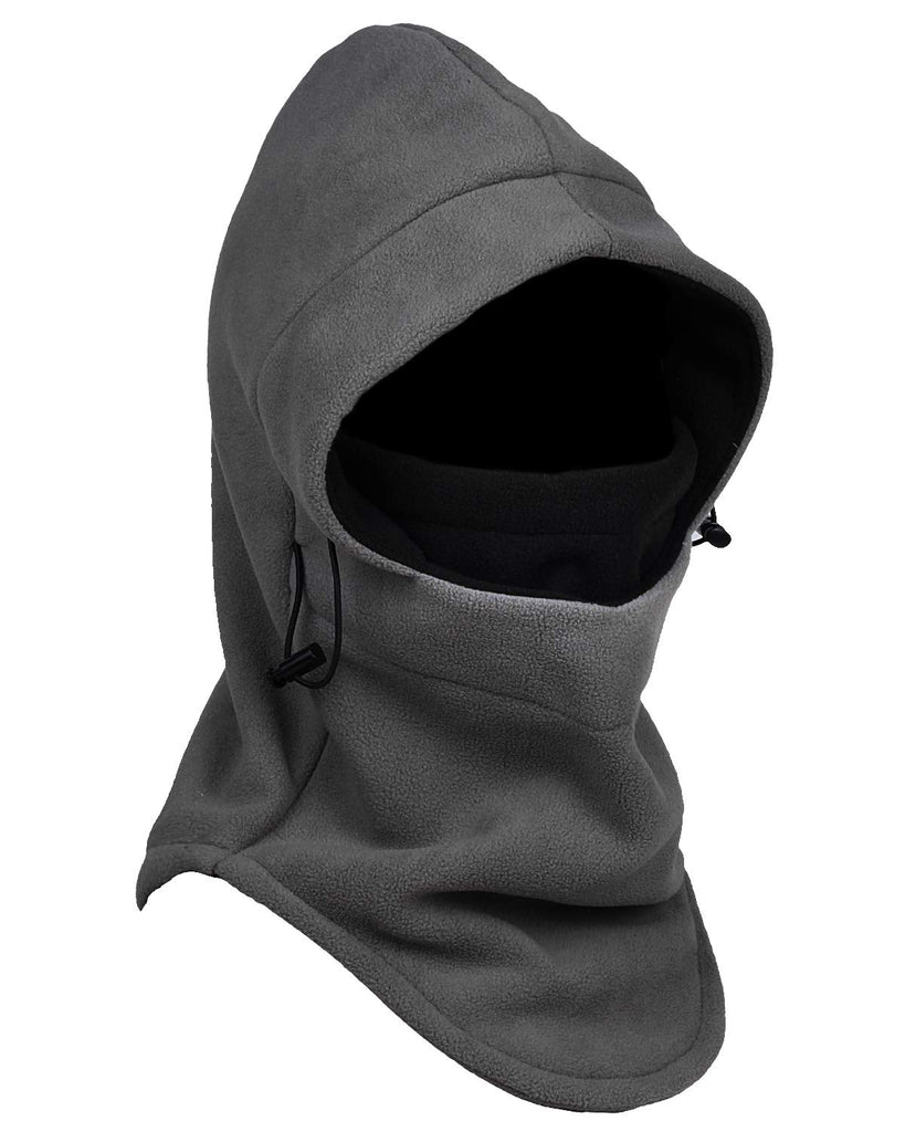Gray Black Fleece Hooded Balaclava