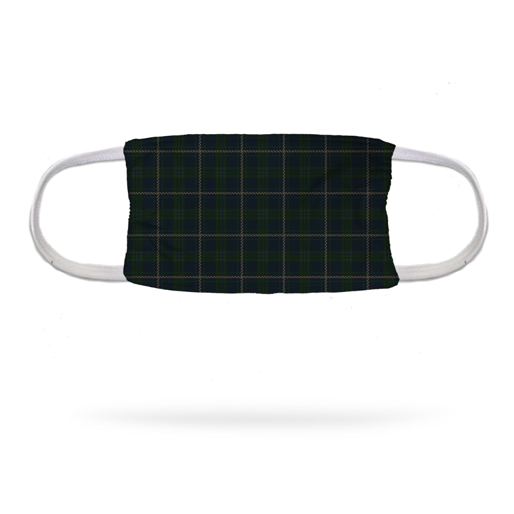 Green Plaid Uniform Face Mask