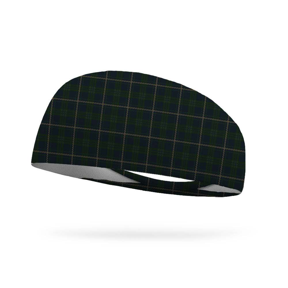 Green Plaid Uniform Wicking Performance Headband
