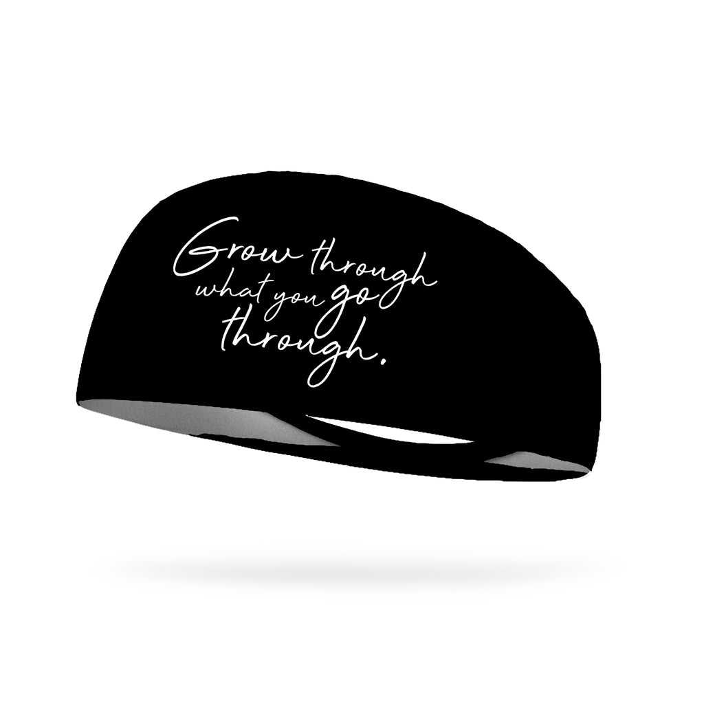 Grow Through What You Go Through Wicking Performance Headband
