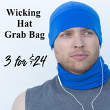 Wicking Hat Grab Bag 3 Hats $24