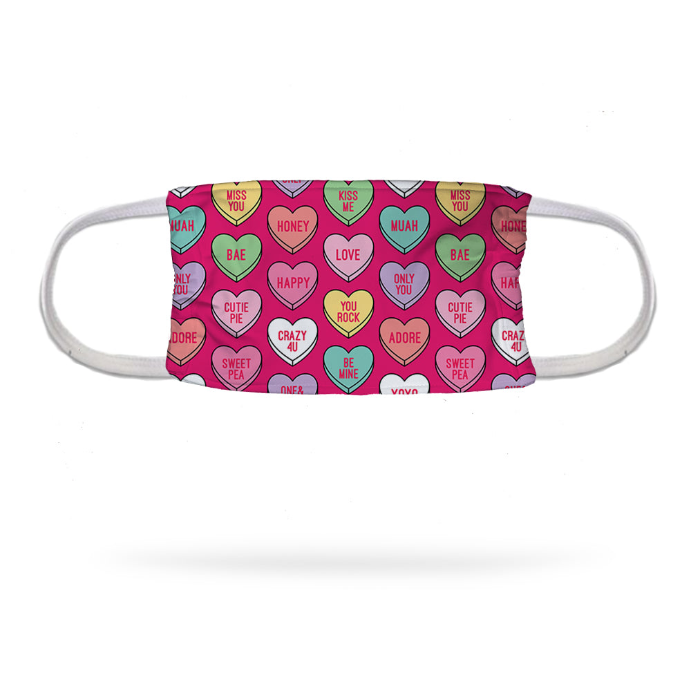 Heart Candies Face Mask