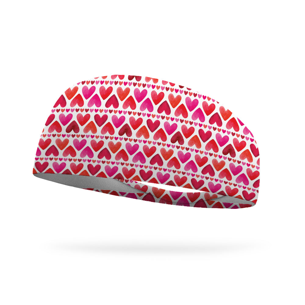 Hearts On Fire Wicking Performance Headband