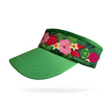 Hibiscus Visor (Add Buttons for Face Mask $2.00)