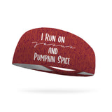 I Run on Jesus and Pumpkin Spice Wicking Performance Headband
