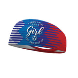 I Know I Play Like a Girl Try and Keep Up Soccer USA Performance Wicking Headband
