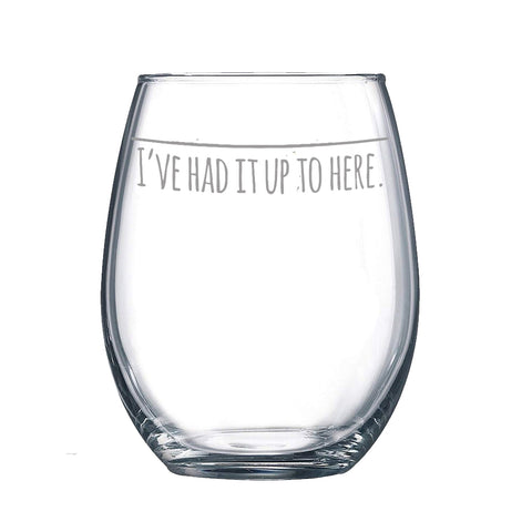 Sip Me Baby One More Time 15 oz. Stemless Wine Glass