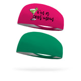Combo 1 I'm A Cool Mom, 1 Solid Forest Green Wicking Headband