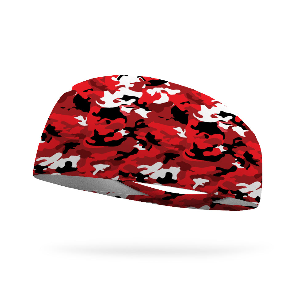 Inferno Red Camo Performance Wicking Headband