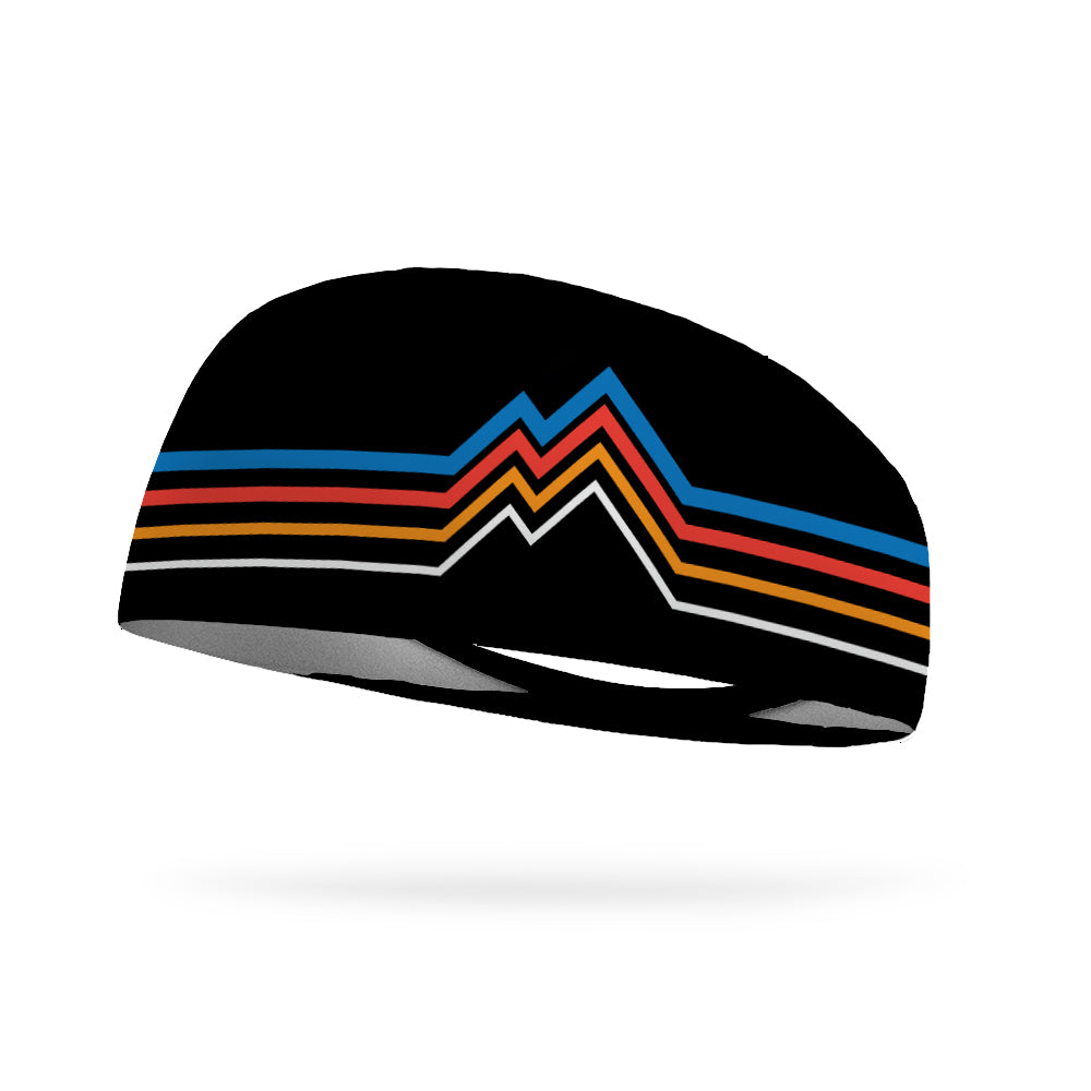Into the Mountains BLACK Wicking Performance Headband