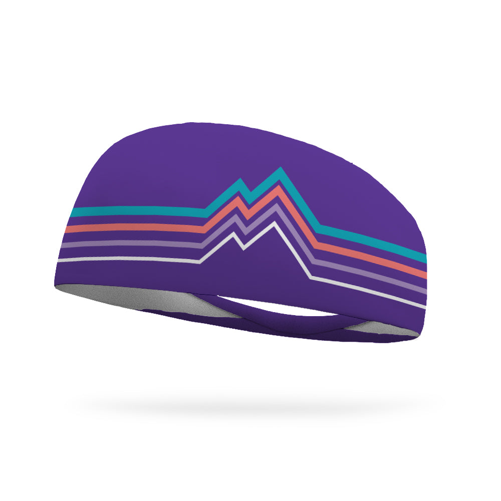 Into the Mountains PURPLE Wicking Performance Headband