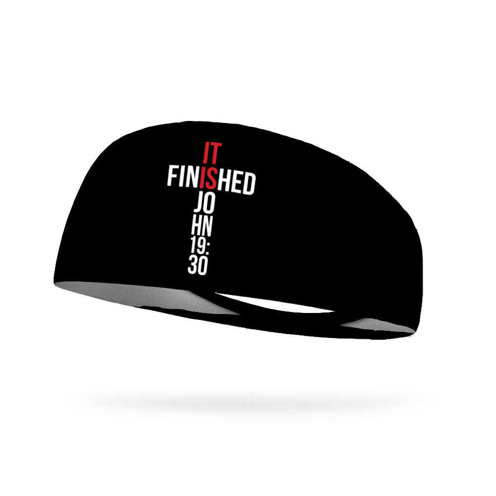 It Is Finished John 19:30 Wicking Performance Headband