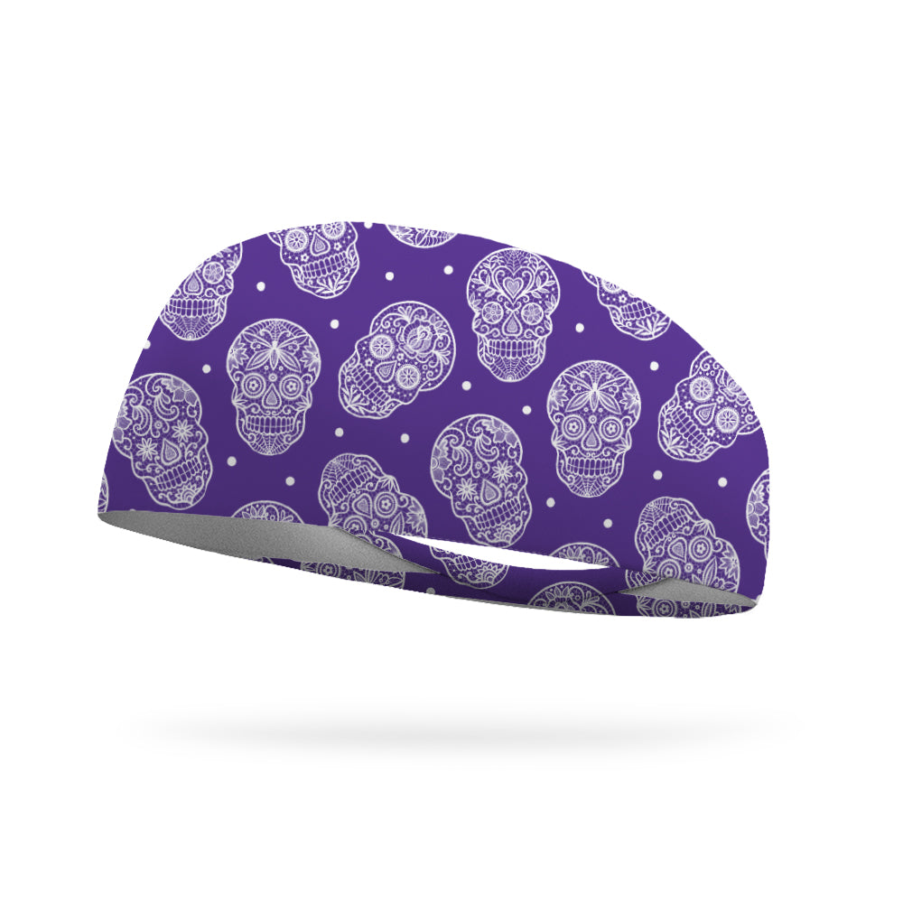 Lacey Skulls Wicking Performance Headband
