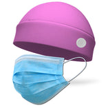 Solid Color FLEECE Regular Wicking Hat with Buttons to Loop Medical Face Mask (Mask Not Included)